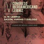 NOVEDADES.    IV Congreso Iberoamericano Leibniz – México 2020