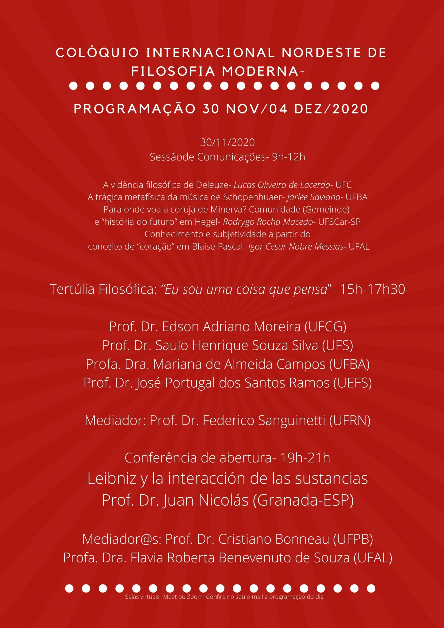 Coloquio internacional Nordeste de Filosofía Moderna