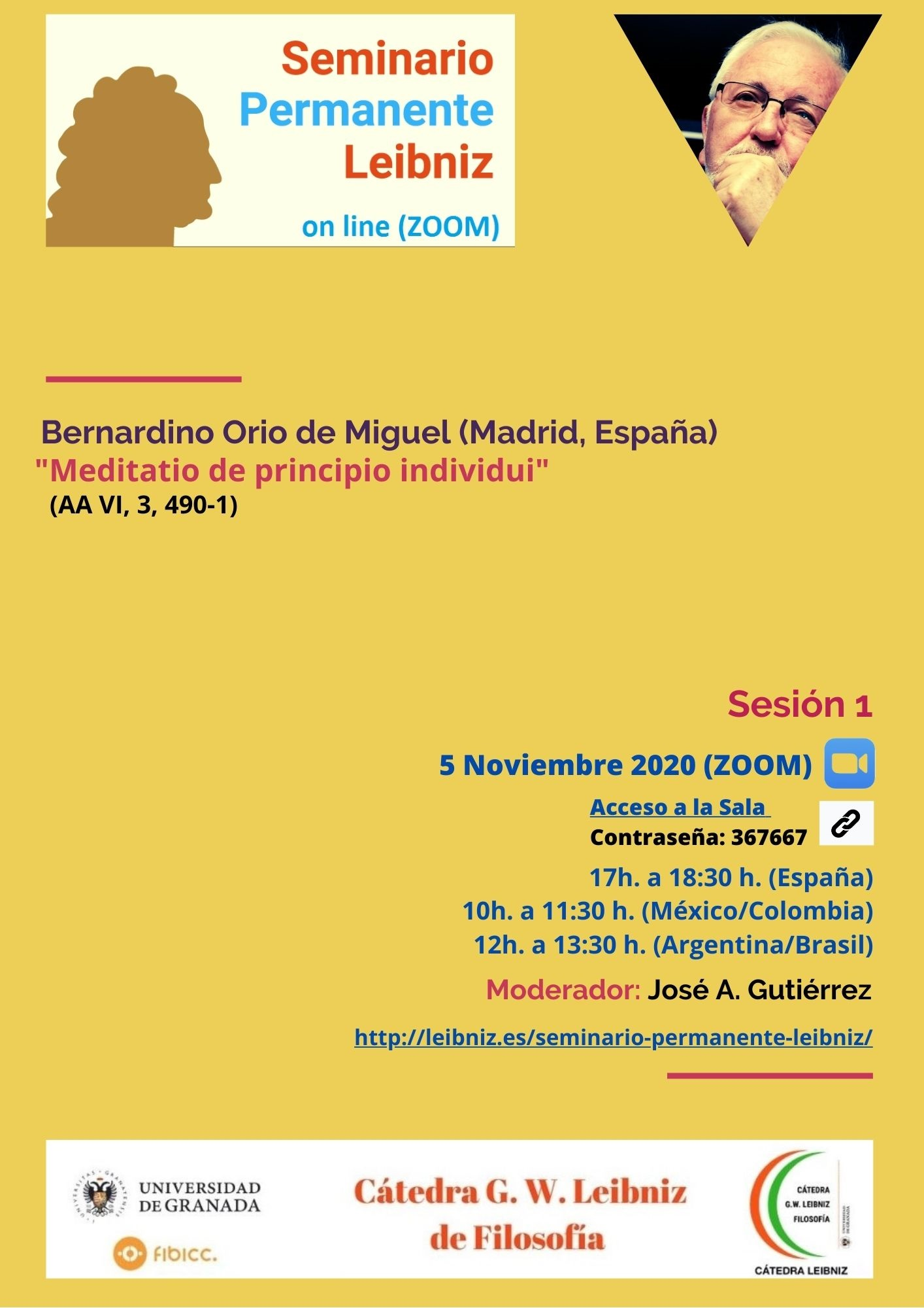 Sesión I. Seminario Permanente Leibniz (on-line)