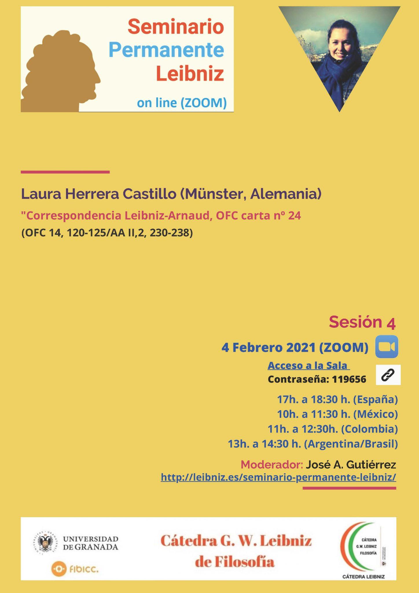 Sesión IV. Seminario Permanente Leibniz (on-line)